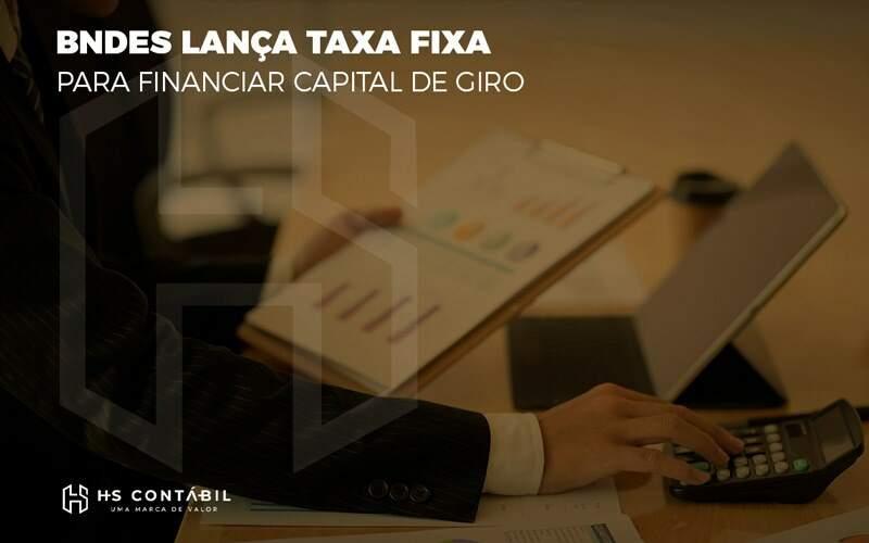Bndes Lanca Taxa Fixa Para Financiar Capital De Giro - Contabilidade em Santo André - SP | HS Contábil
